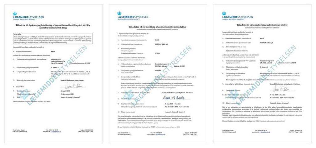 STENOCARE tilladelser fra Lægemiddelstyrelsen